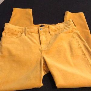 J. Crew Corduroy Jeans in Mustard